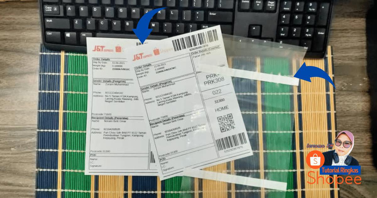 tutorial ringkas cara nak print slip pos consignment note shopee 20219